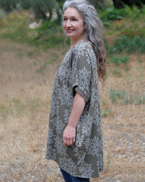 Organic Cotton Jacquard Tunic Sweater
