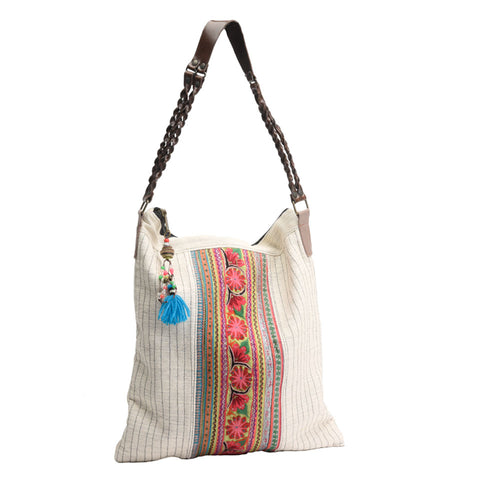 White Hemp Tribal Bag