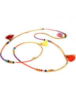 Long Necklace with Tassels