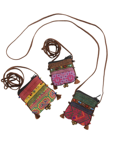 Tribal Hmong Pouch Necklace