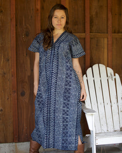 Hmong Indigo Maxi Dress
