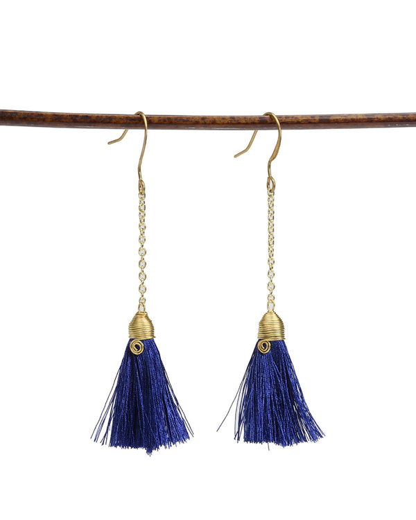 Metallic Tassel Earring