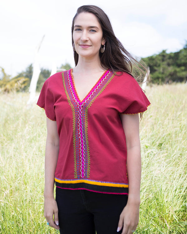 V-neck Tribal Top