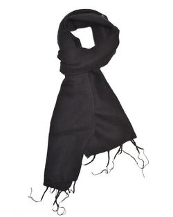 Brushed Woven Scarf in Black