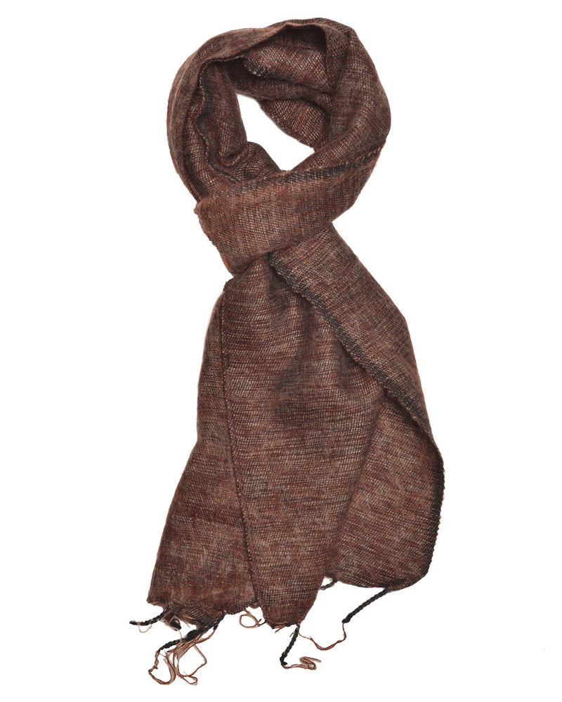 Brushed Woven Scarf in Chocolate