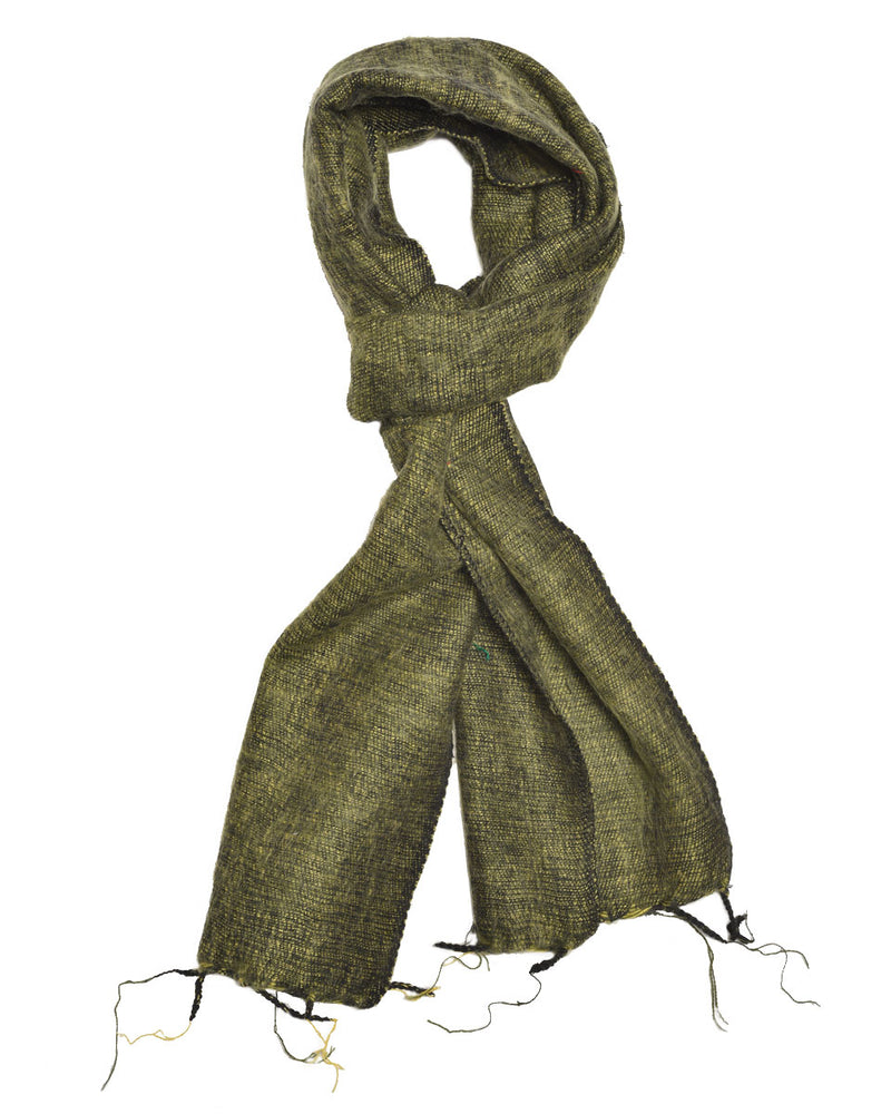 Brushed Woven Scarf in Chartreuse