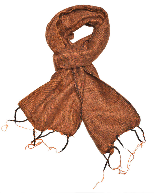 Brushed Woven Scarf in Cinnamon