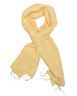 Brushed Woven Scarf in Cream