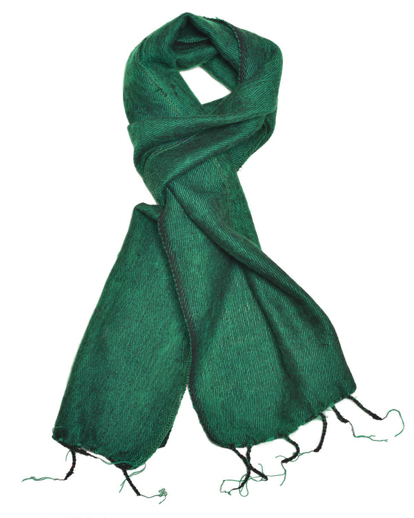 Brushed Woven Scarf in Emerald