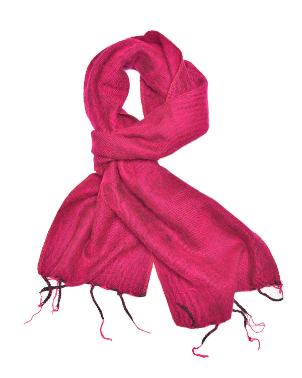 Brushed Woven Scarf in Hot Pink