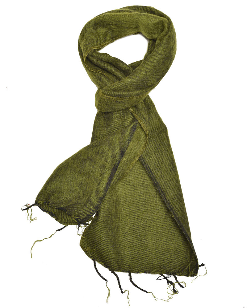 Brushed Woven Scarf in Moss