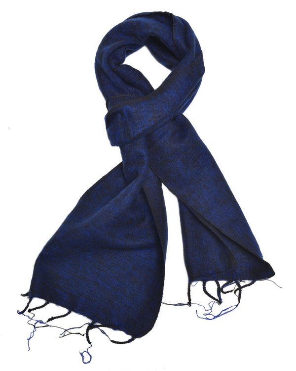 Brushed Woven Scarf in Navy Blue