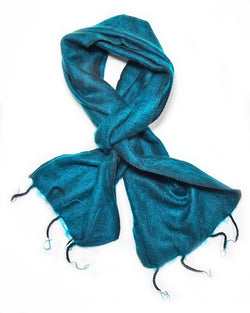 Brushed Woven Scarf in Ocean Green