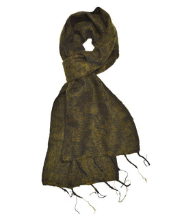 Brushed Woven Scarf in Olive