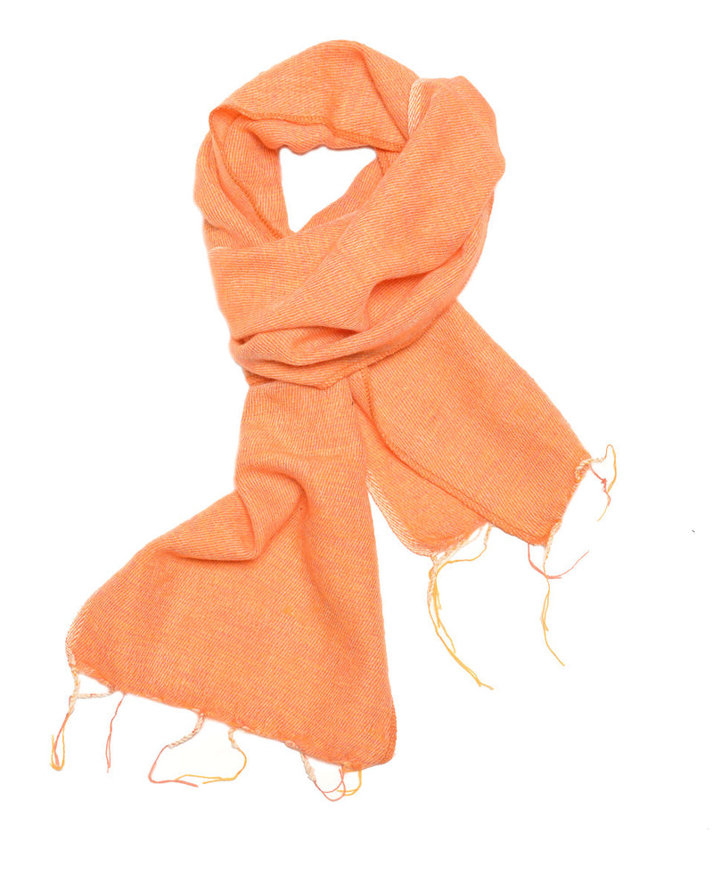 Brushed Woven Scarf in Peach