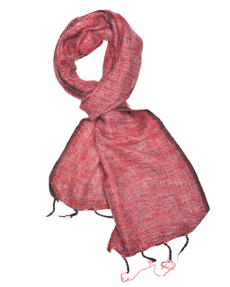 Brushed Woven Scarf in Pomegranate