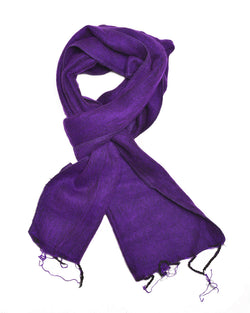 Brushed Woven Scarf in Purple