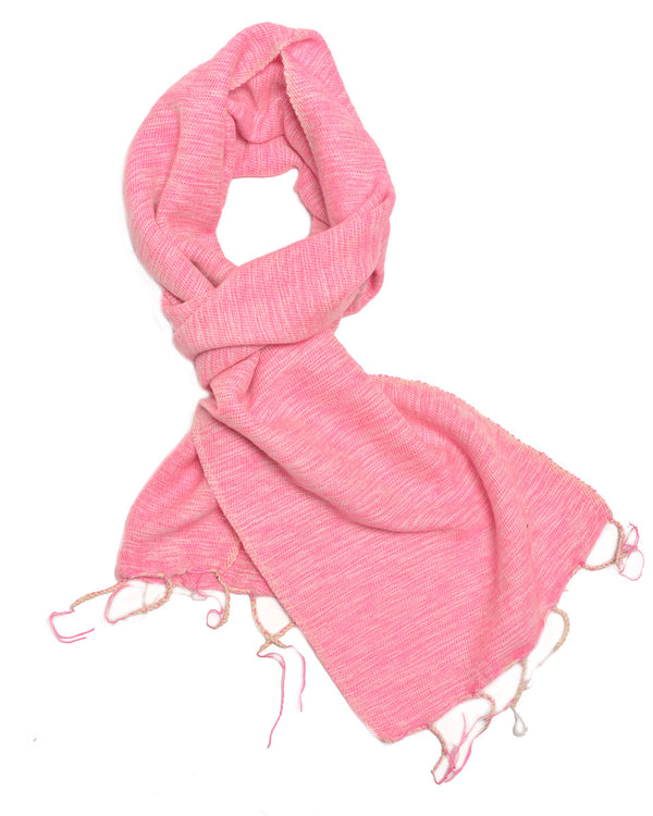 Brushed Woven Scarf in Rose