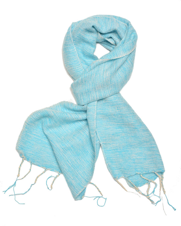 Brushed Woven Scarf in Sky