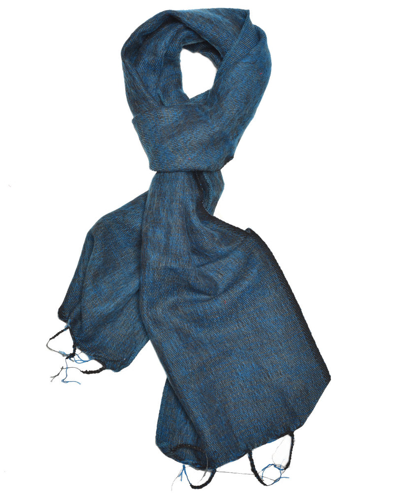 Brushed Woven Scarf in Turquoise