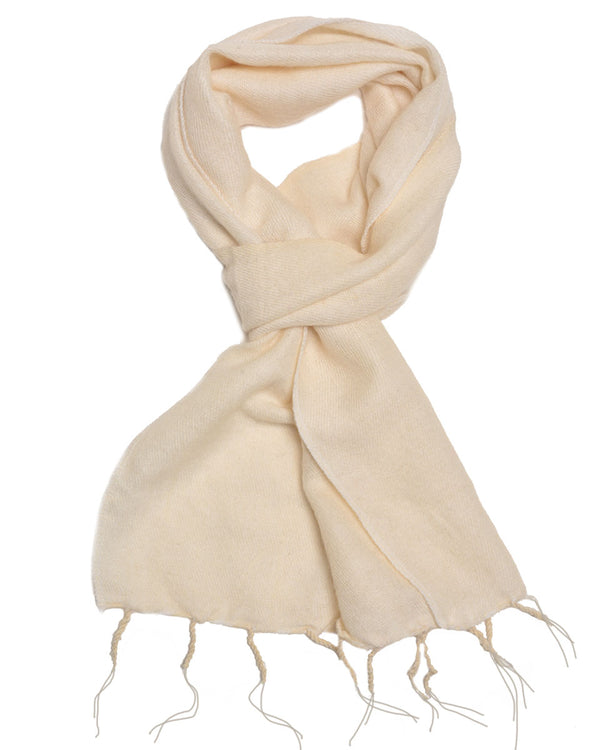 Brushed Woven Scarf in White