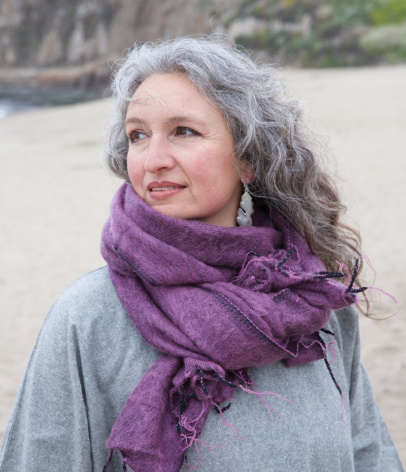 Brushed Woven Shawl in Lilac