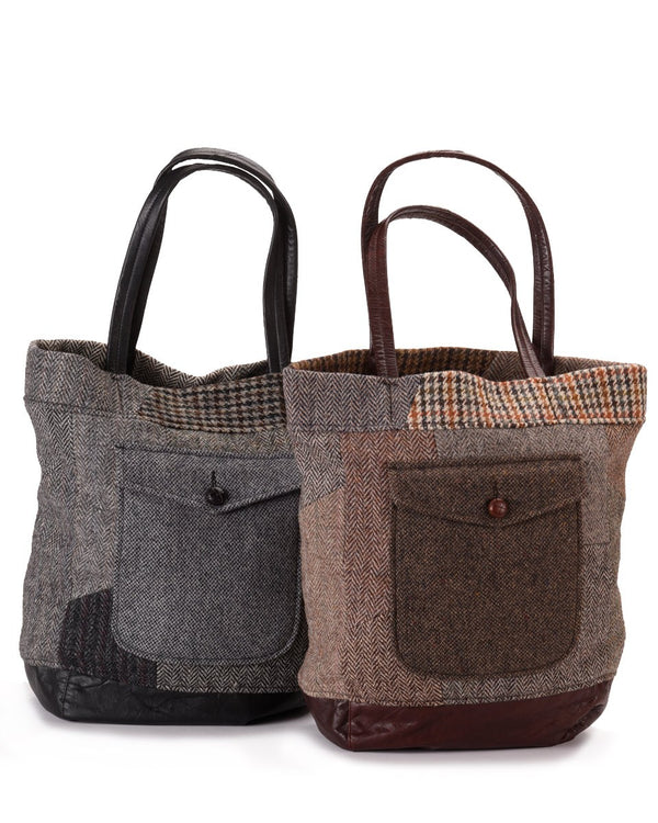 Upcycled Wool Tote