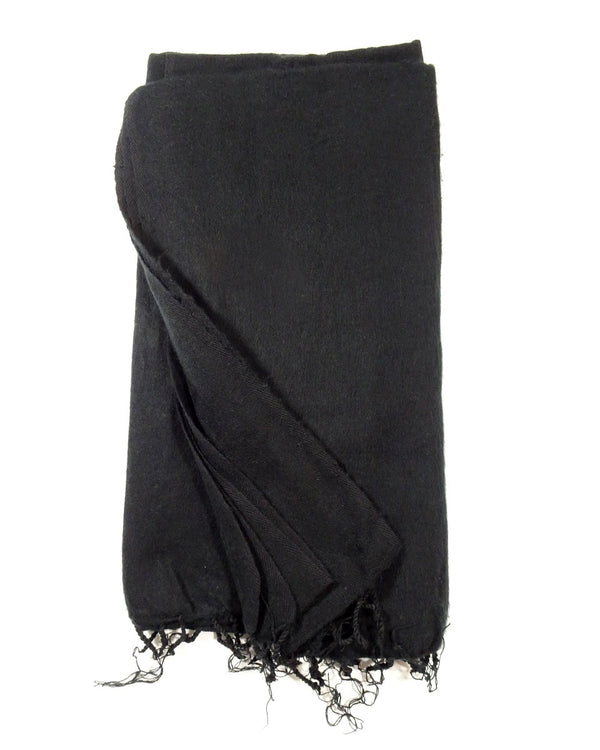 Brushed Woven Blanket in Black