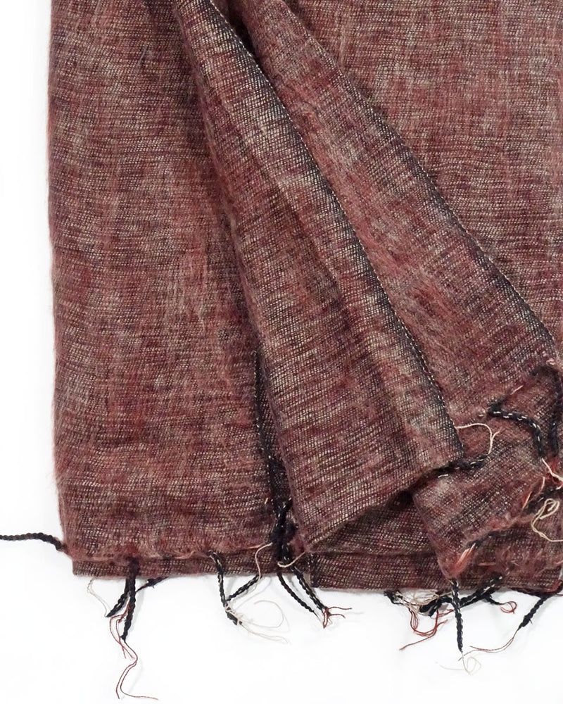 Brushed Woven Blanket in Chocolate