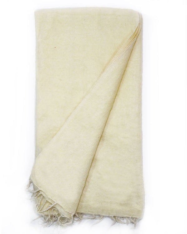 Brushed Woven Blanket in Cream