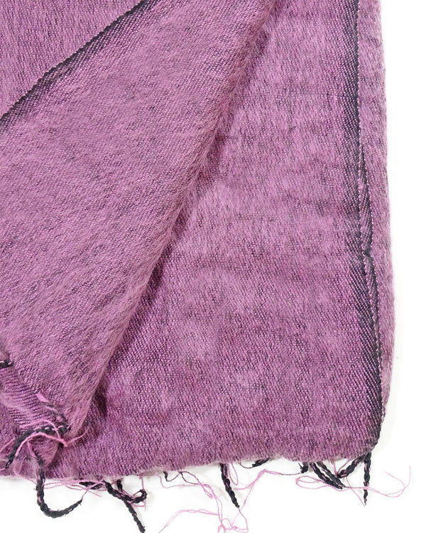 Brushed Woven Blanket in Lilac