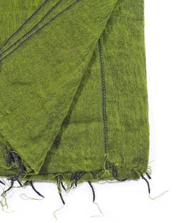 Brushed Woven Blanket in Moss