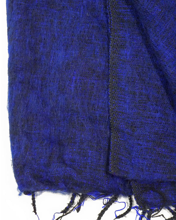 Brushed Woven Blanket in Navy Blue