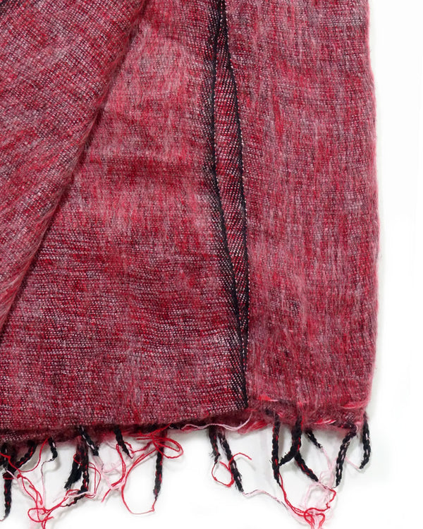 Brushed Woven Blanket in Pomegranate