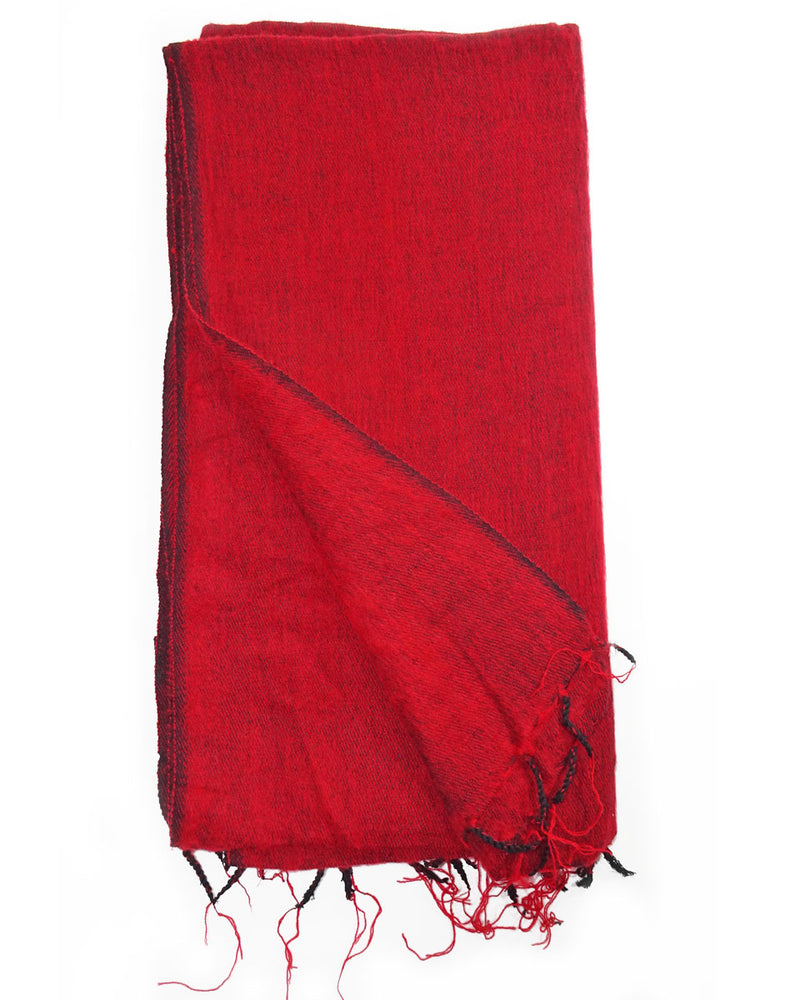 Brushed Woven Blanket in Red