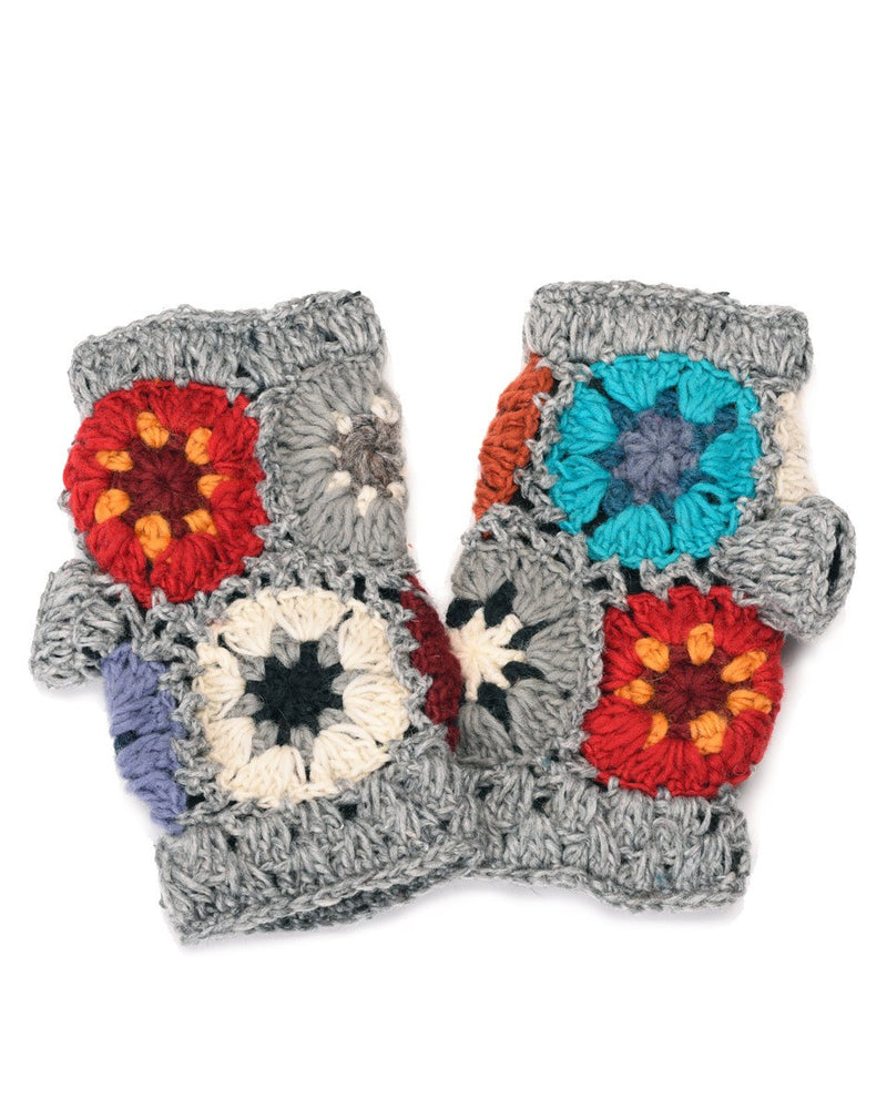 Crochet Flower Gloves