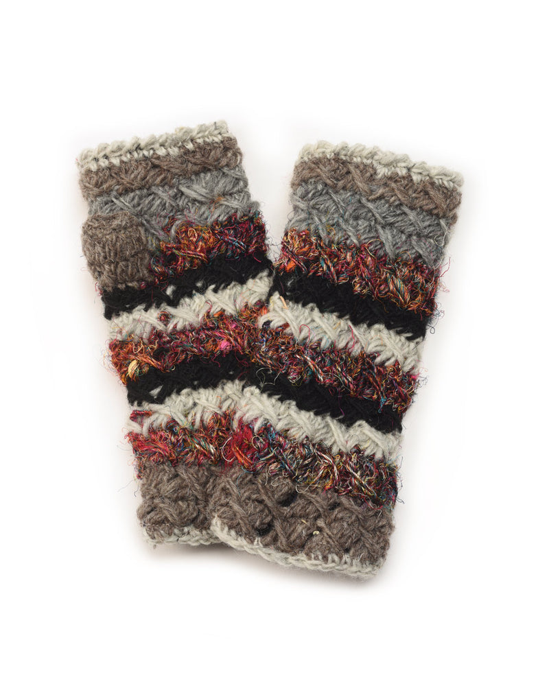 Crochet Gloves with Silk