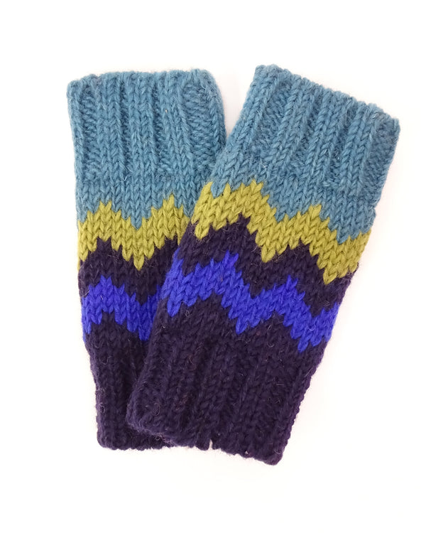 Zig Zag Fingerless Gloves