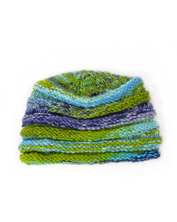 Multi-Striped Ribbed Beanie