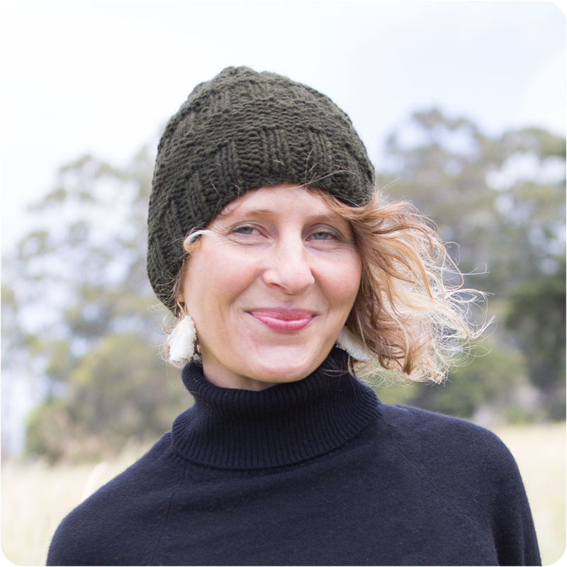 Rib Purl Wool Hat