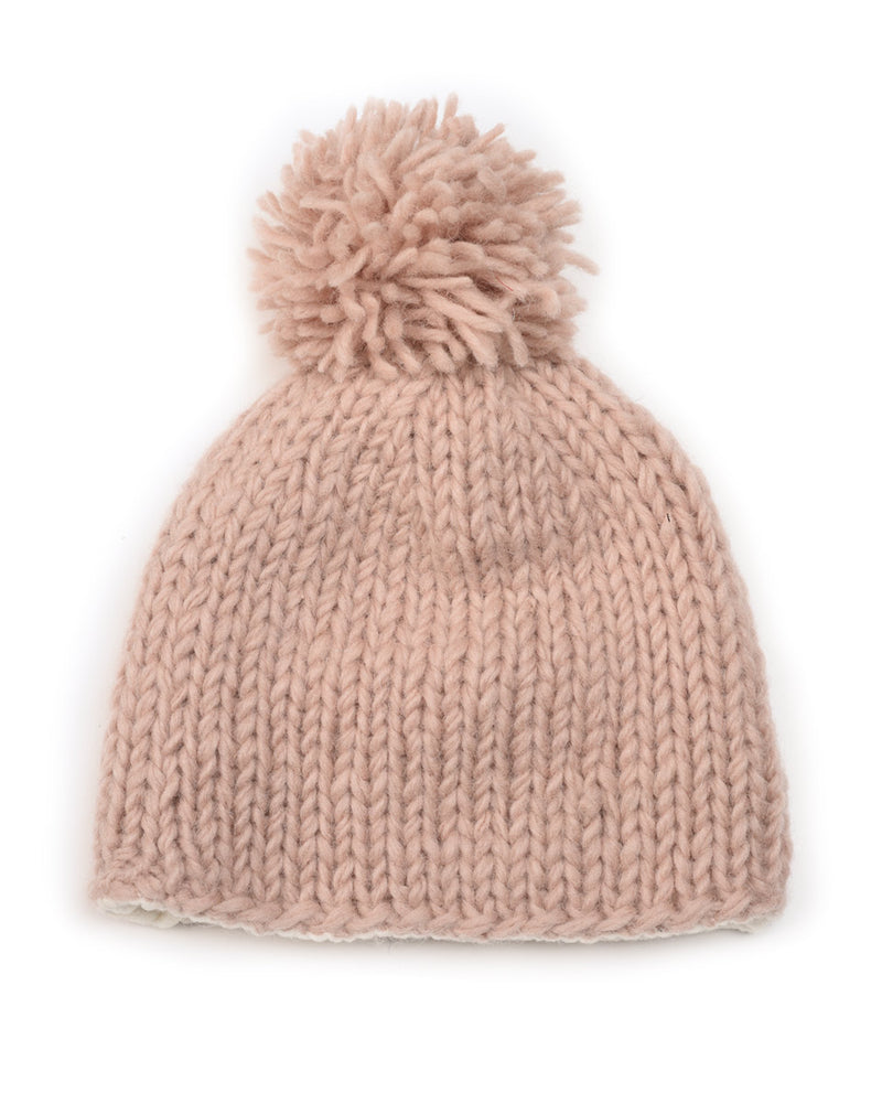Knit Beanie with Pom Pom