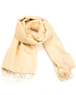 Brushed Woven Shawl in Cream
