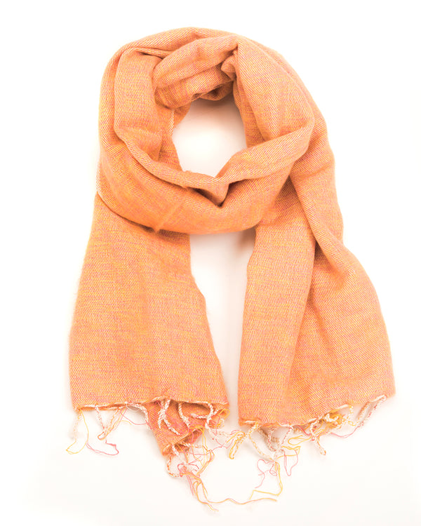 Brushed Woven Shawl in Peach