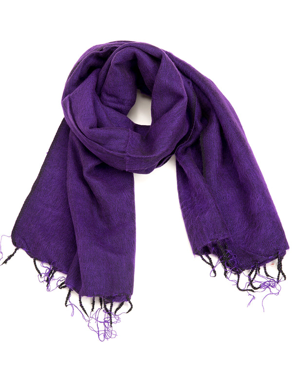 Brushed Woven Shawl in Purple