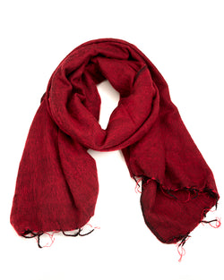 Brushed Woven Shawl in Red