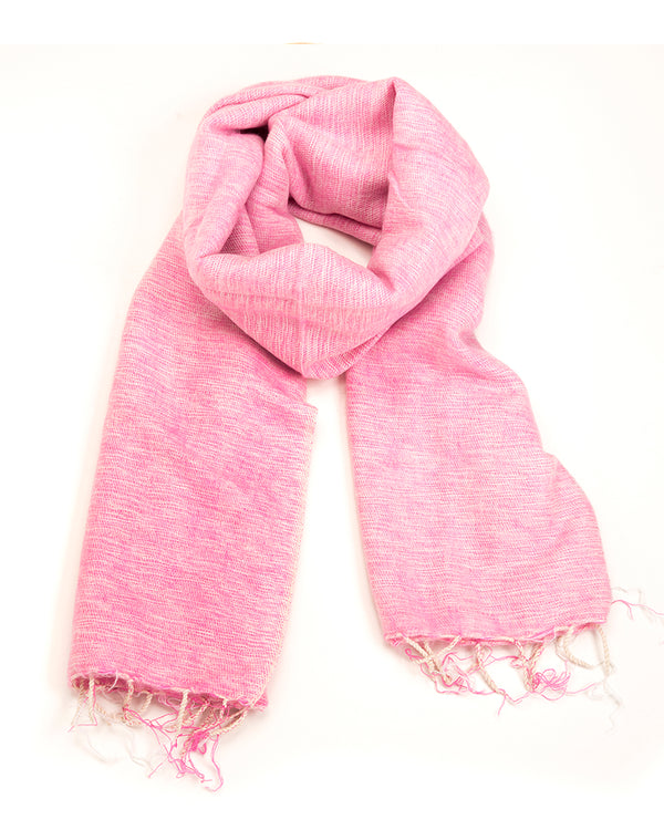 Brushed Woven Shawl in Rose