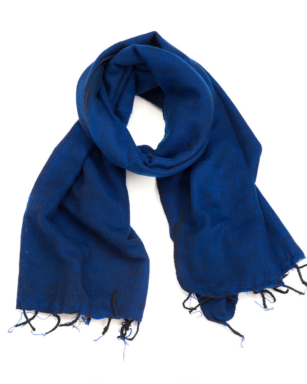 Brushed Woven Shawl in Royal Blue