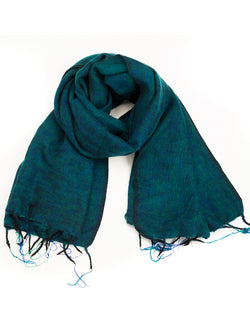 Brushed Woven Shawl in Teal
