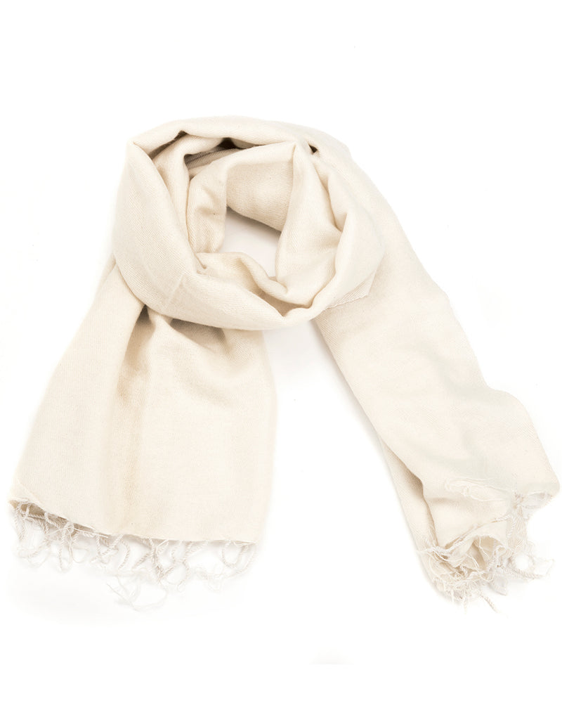 Brushed Woven Shawl in White