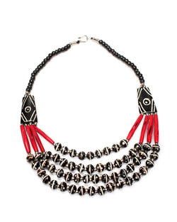 Batik Bone Necklace